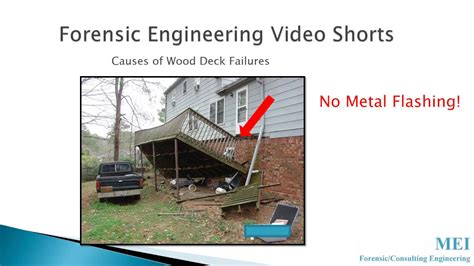 wood deck failures youtube