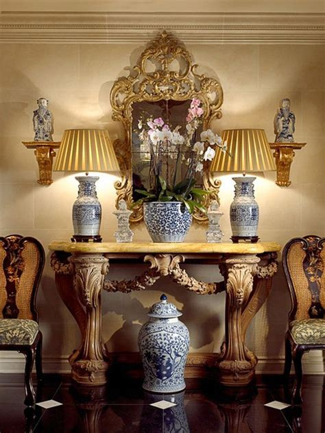 noble house furniture blue and white monday with florals vignettes 1111