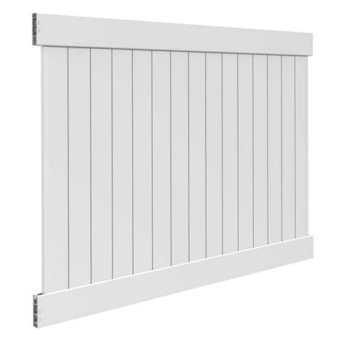 Veranda Linden 6 ft. H x 8 ft. W White Vinyl Pro Privacy