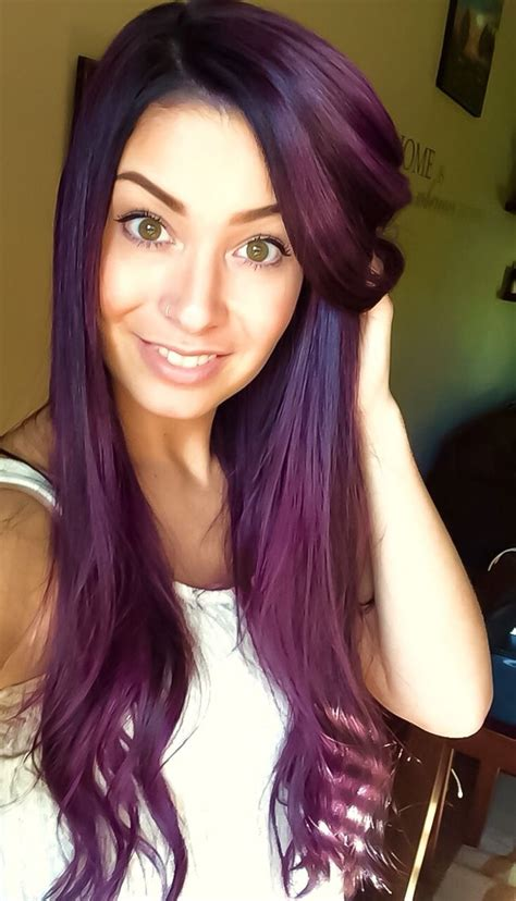 deep violet hair ideas  pinterest dark purple
