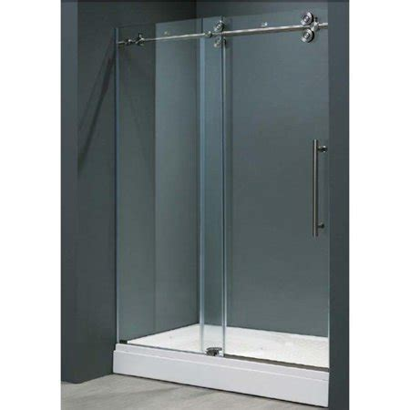 60 shower door vigo vg6041chcl6074 60 inch frameless shower door 3 8