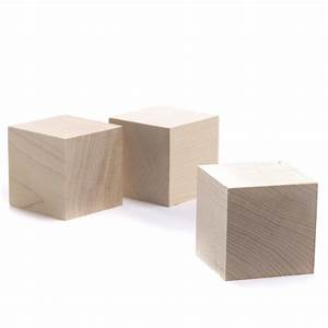 Unfinished Wood Cubes - Wooden Cubes - Unfinished Wood