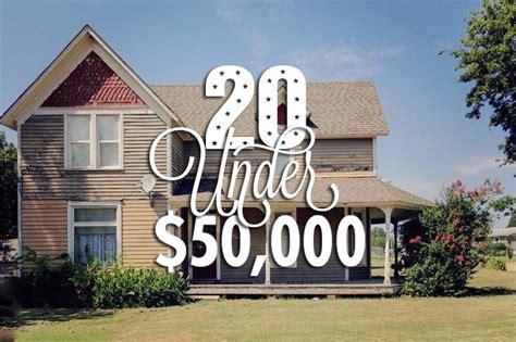 houses under 50k historic edition september