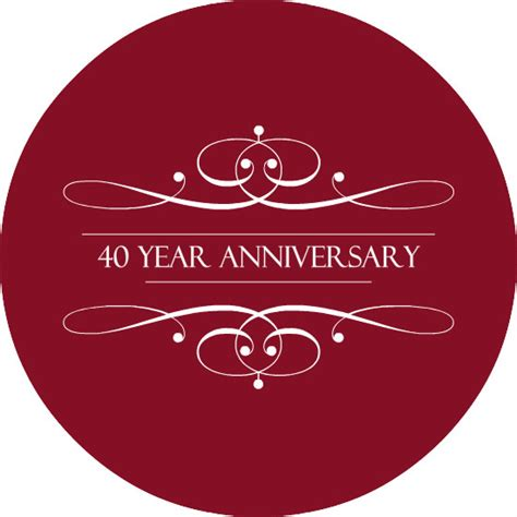 40th wedding anniversary 40th wedding anniversary invitations the ruby anniversary