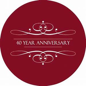 40th Wedding Anniversary Invitations -- The Ruby Anniversary