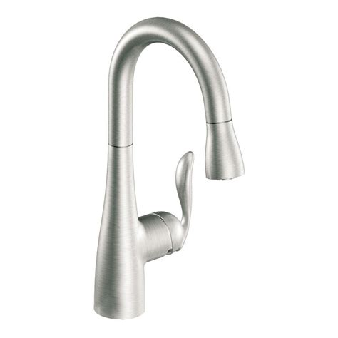 moen arbor single handle pull down sprayer bar faucet