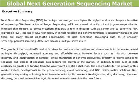 Illumina Company Profile Global Next Generation Sequencing Market Trends