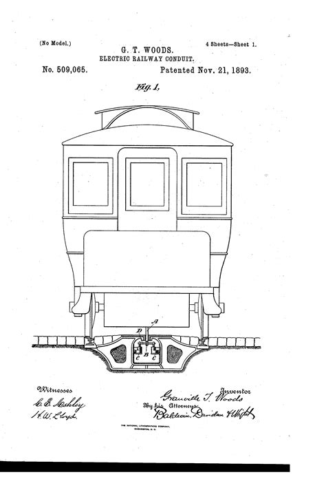 Patent Us509065 Electric Railway Conduit Google Patents