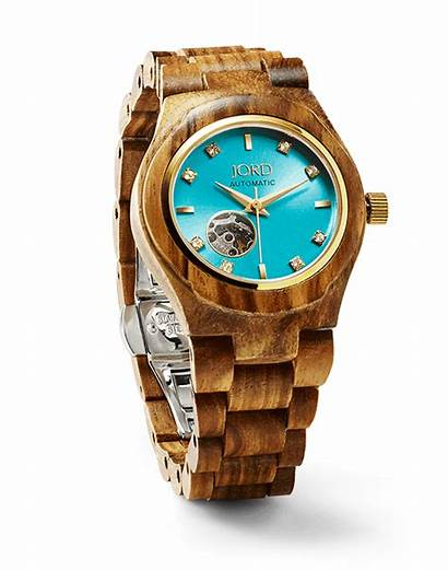 Watches Wood Cora Woodwatches Jord Turquoise Automatic