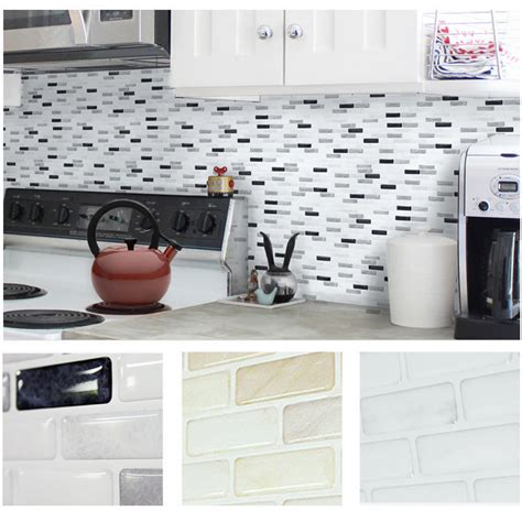 kitchen tile wallpaper home decor brick mosaic kitchen bathroom foil 3d 3300