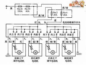 Honda Accord 2 3l Car Electric Seat Circuit Principle Diagram - Automotive Circuit