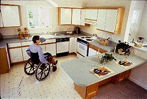 image descriptions With kitchen design for wheelchair user