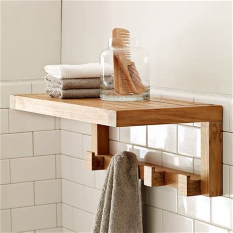 teak bath shelf west elm amazing smart and useful bathroom shelving and storage
