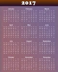 2017 Calendar Printable Org