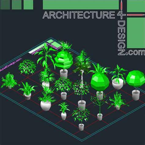 autocad  trees  shrubs models dwg file