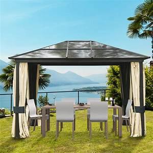 Stabiler Pavillon Wetterfest : outsunny luxus pavillon gartenpavillon alu partyzelt real ~ Eleganceandgraceweddings.com Haus und Dekorationen