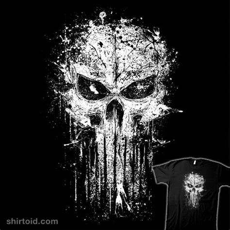 splatter skull shirtoid
