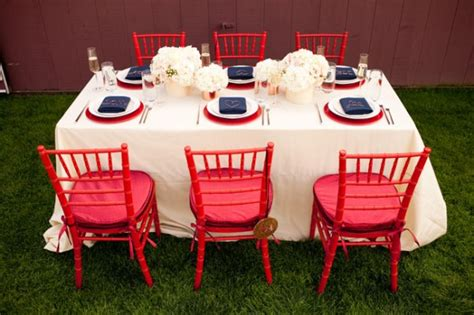 red white and blue wedding ideas