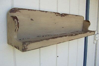 primitive rustic painted country plate display wall shelf farmhouse shelves rack ebay