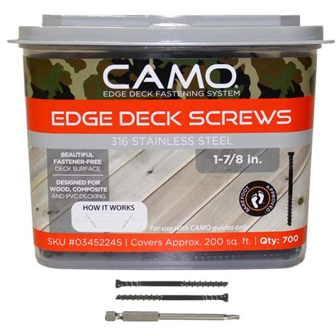 Camo Deck Screws 1 78 by Camo 1 7 8 In 316 Stainless Steel Trimhead Deck