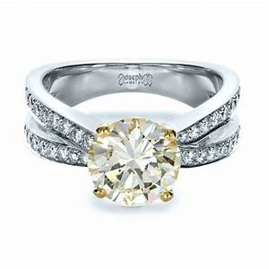 custom canary diamond engagement ring 1225 With canary diamond wedding rings