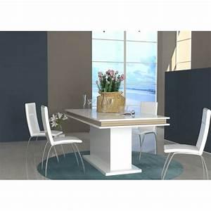 Salle A Manger Chene Clair : table de salle manger design extensible blanc laqu ~ Melissatoandfro.com Idées de Décoration