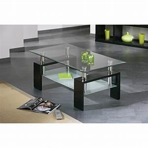 Table Basse Noire Design : table basse design de salon dana noire ~ Carolinahurricanesstore.com Idées de Décoration