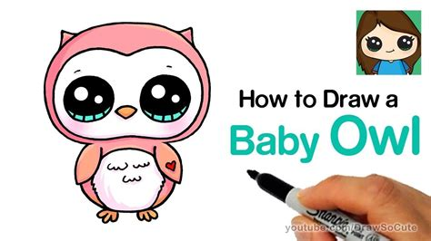 draw  baby owl easy youtube drawing  art