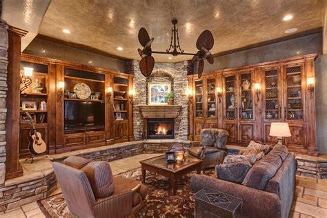 splendid built  cabinets  fireplace
