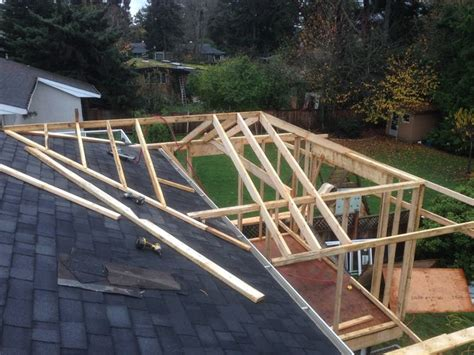 Framing A Hip Roof Addition by How To Build A Hip Roof 15 Steps With Pictures Wikihow