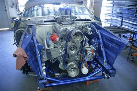 blown big block powered  dodge charger  magnum force