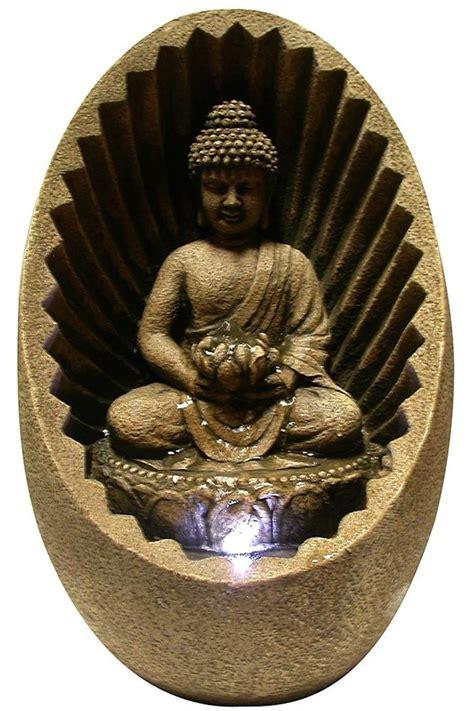 win tabletop buddha fountain  led light