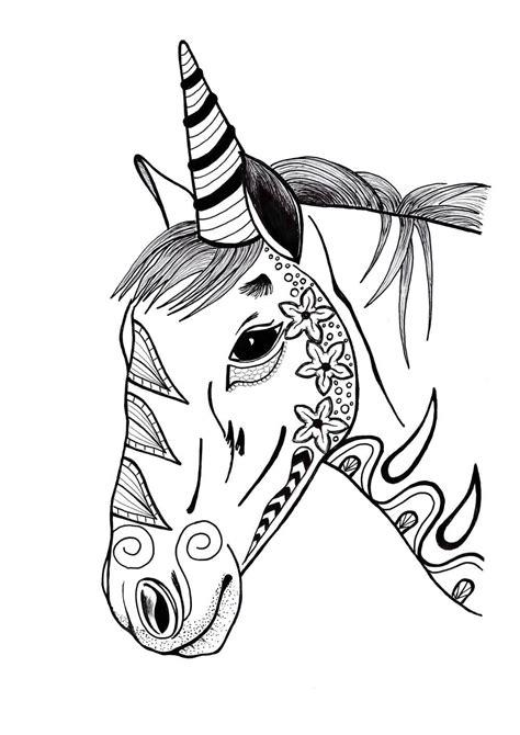 foto di ragazze da colorare in bianco e nero pagine da colorare con unicorni 100 immagini in bianco e nero