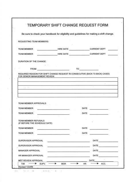 shift change forms   ms word
