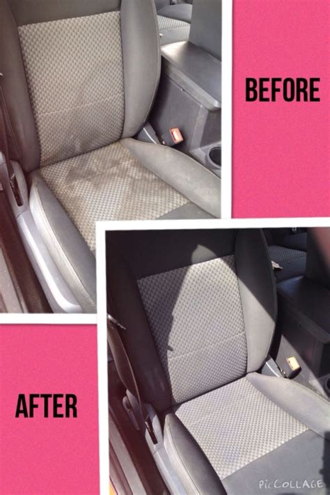 clean water spots and stains from your cloth car seats
