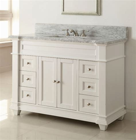 Rsi home products c14136a richmond bathroom vanity cabinet with top, fully assembled, 2 door, white, 36 x 31 x18 in. Stunning 54 Inch Bathroom Vanity Single Sink Portrait ...