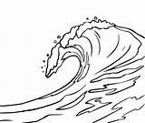 Waves Coloring Drawing Ocean Wave Line Clipart Printable Simple Sketch Easy Crashing Lineart Template Getdrawings Getcolorings Border Vector Colorings sketch template