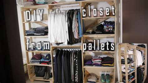 How To Make From Your Closet by How To Make A Closet Out Of Quot Pallets Quot Diy