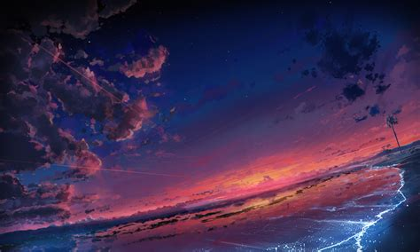 Anime Sunset Wallpaper - original hd wallpaper and background image