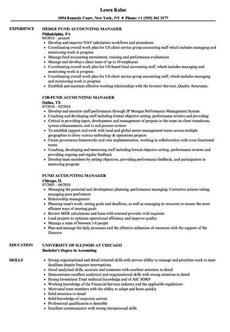 Fund Accounting Manager Resume Samples  Velvet Jobs. Best Fonts Resume. Sample Music Teacher Resume. Lawn Care Job Description For Resume. Follow Up Letter After Sending Resume Sample. Domestic Engineer Resume Examples. Sap Hr End User Resume. Examples Of Summary Of Qualifications On Resume. How To Format A Resume On Word