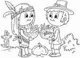 Pilgrim Coloring Pages Template Indian Boy Hat Thanksgiving Templates sketch template