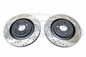 StopTech Drilled & Slotted Rotors Front Pair 08 09