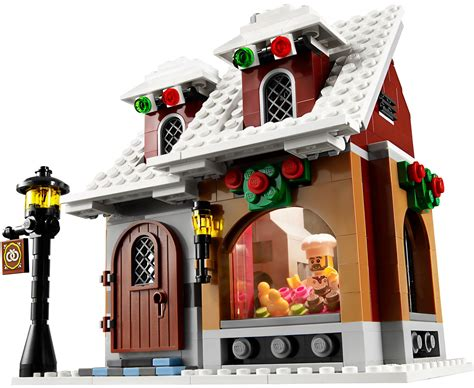 lego  winter village bakery  brick city