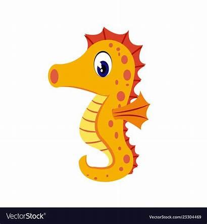 Seahorse Cartoon Clipart Sea Horse Clip Vector