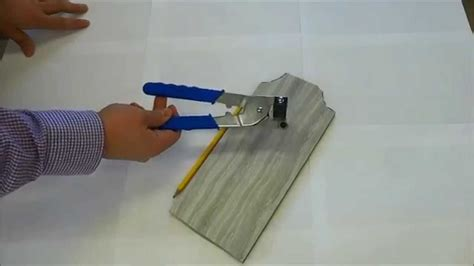 how to cut tile with handheld tile cutters youtube