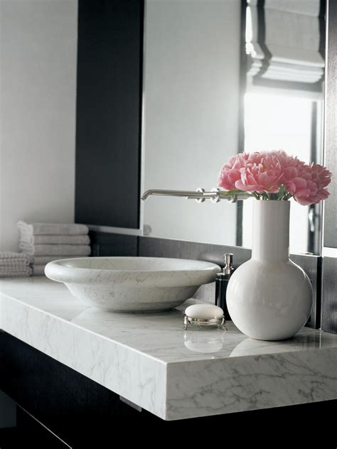 Ideas For Bathroom Countertops by Marble Bathroom Countertops Hgtv