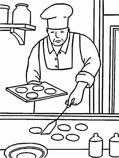 Coloring Baking Pages Chef Cookies Professional Bake