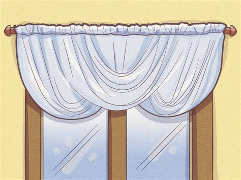 how to hang swag curtains how to hang a curtain swag 15 steps with pictures wikihow