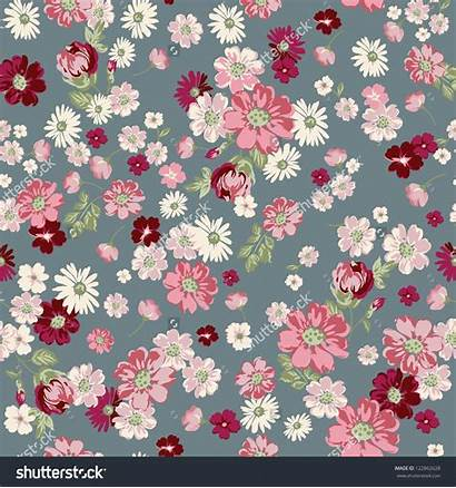 Shutterstock Floral Seamless Ditsy