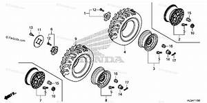 Honda Side By Side 2017 Oem Parts Diagram For Wheel